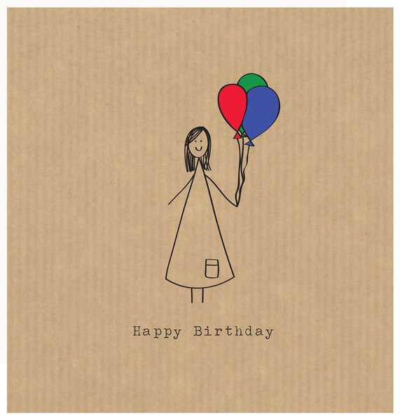 Happy Birthday Girl - Card