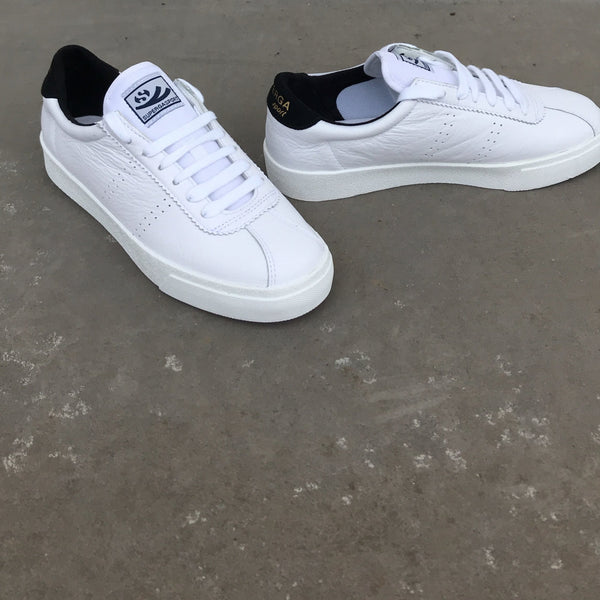 Superga Clubs Comfleau in White / Black