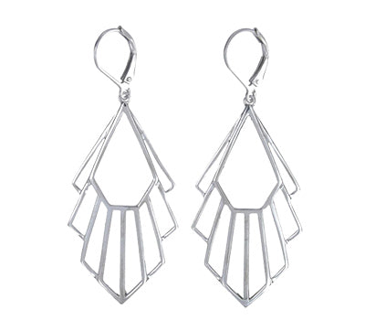 Flossie Earrings / Silver