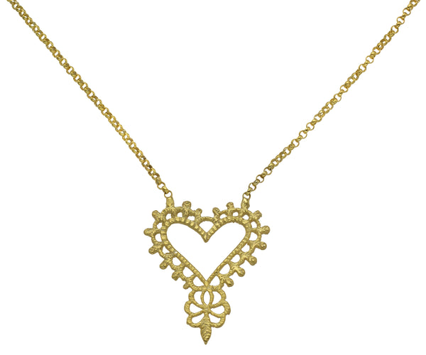Gypsy Love Necklace - Gold