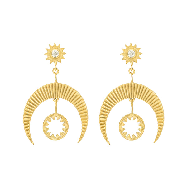 Hatha Earrings in Gold