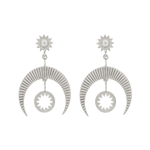 Hatha Earrings in Silver