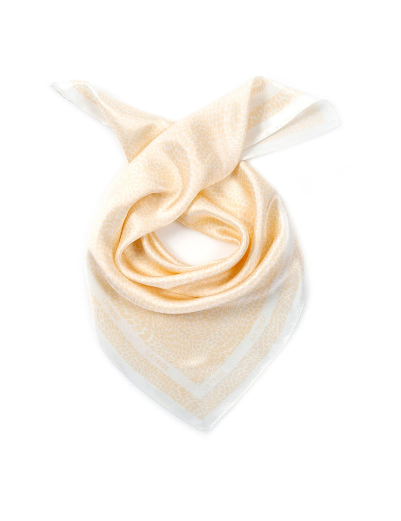 Snake Silk Scarf in Peach