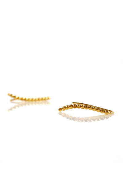 Beaded Ear Pin - Gold