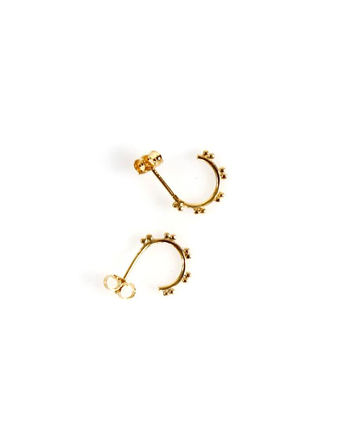 Hoop Studs in Gold