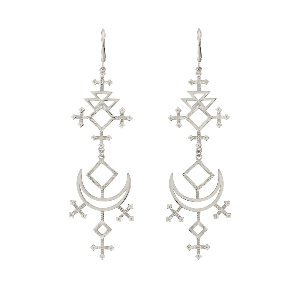 Lunja Earrings / Silver