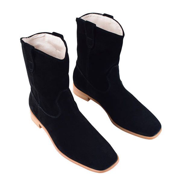Matteo Boot in Black Suede