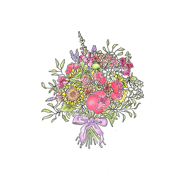 Summer Bouquet - Card