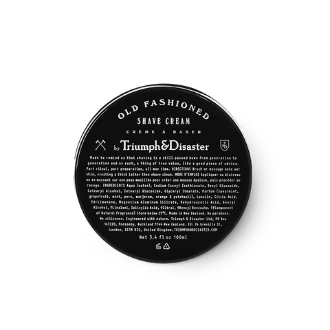 Triumph & Disaster | Old Fashioned Shave Cream | Shop Online at The Birdcage