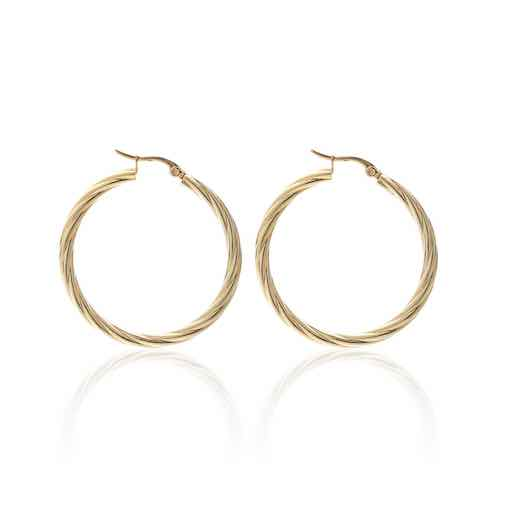 Get Twisted Hoops / Gold