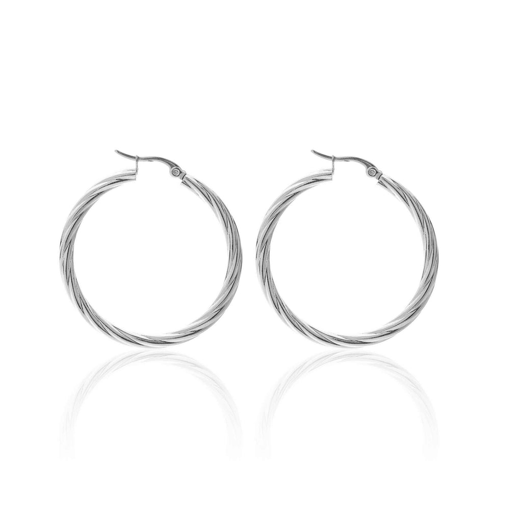 Get Twisted Hoops / Stainless Steel