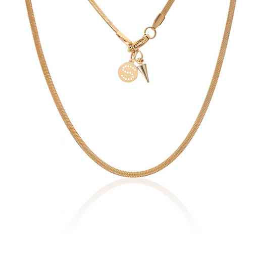 Herringbone Necklace / gold
