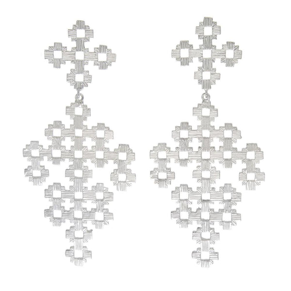 Zoe & Morgan | Chimi Earrings | Silver | Shop online at The Birdcage