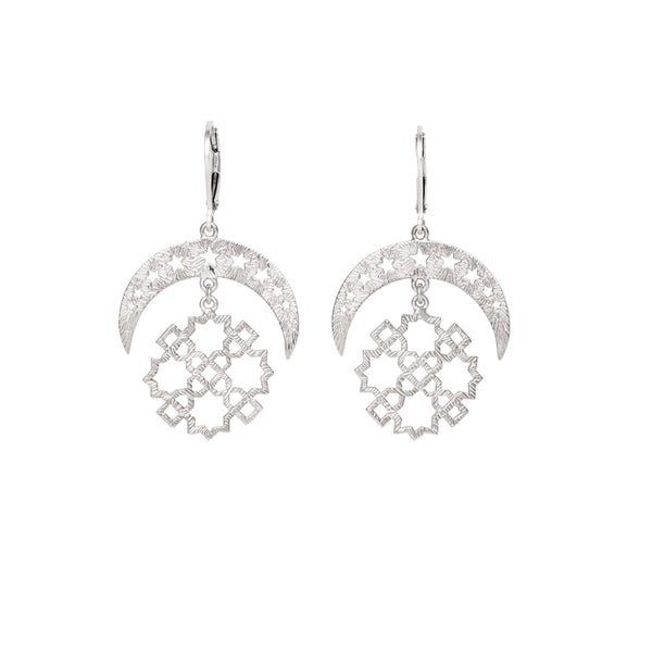 Zoe & Morgan | Essaouria Earrings | Silver | Shop online at The Birdcage