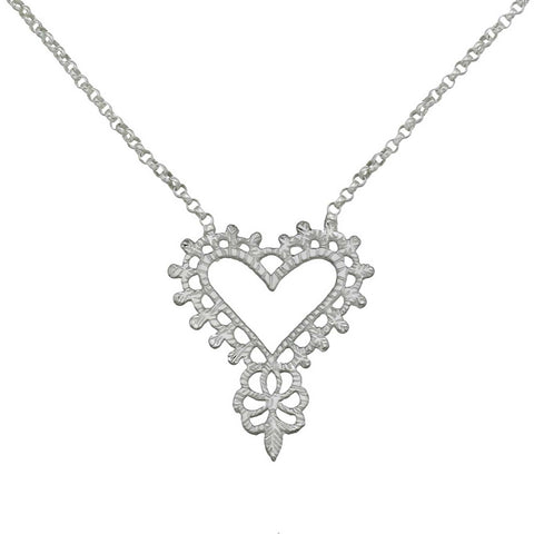 Gypsy Love Necklace - Silver