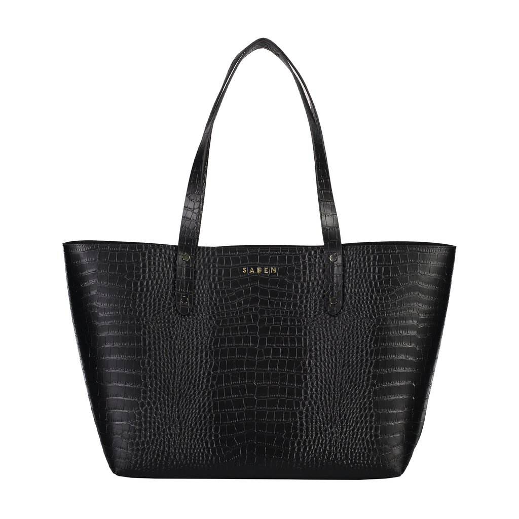 Kelly Tote / Black Croc