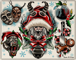 "'Shadow Of Saint Nicholas' 11x14"" Tattoo Flash Print"