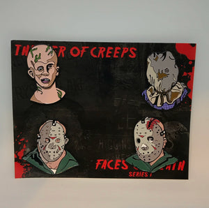 Faces Of Death: Series 1 Enamel Pin Set