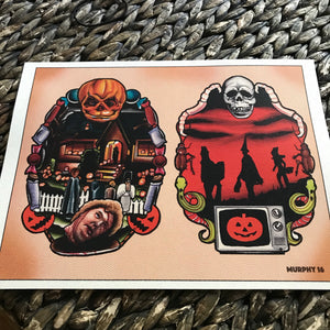 All Hallows Eve Watercolor Print