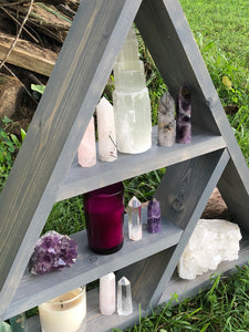 Handmade Triangle Display Shelf