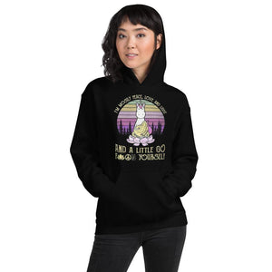 Peace, Love & Light Unicorn- Unisex Hoodie