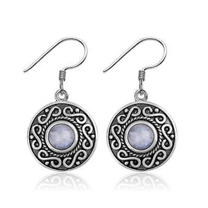 Infinity Moonstone Earrings