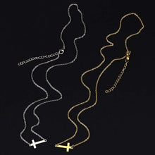 Load image into Gallery viewer, Sideways Cross Pendant Necklace