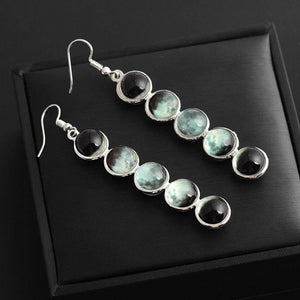 Glow In The Dark Moon Phase Earrings