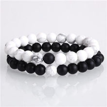 Load image into Gallery viewer, Yin Yang Natural Stone Couples/Friendship Bracelet Set