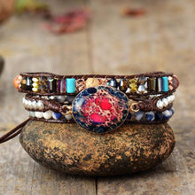 Load image into Gallery viewer, Pink Tourmaline & Jasper Bracelet
