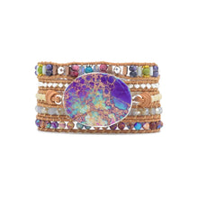 Load image into Gallery viewer, Natural Stone Wrap Bracelet