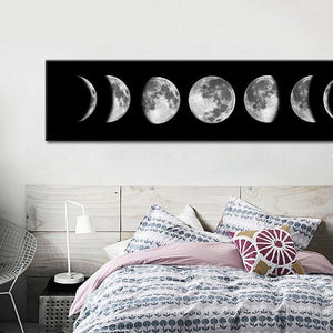 Moon Phase Canvas Poster