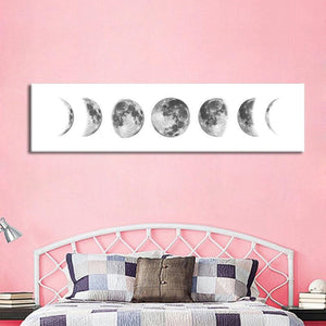 Moon Phase Nordic Canvas Poster