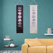 Load image into Gallery viewer, Moon Phase Wall Hanging Tapestry