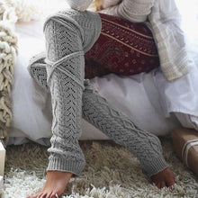 Load image into Gallery viewer, Knit Thigh High Leg Warmers
