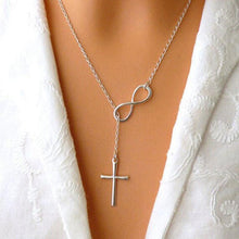 Load image into Gallery viewer, Infinity Cross Necklace