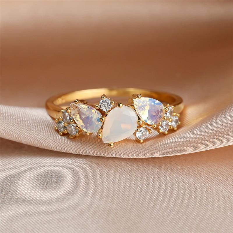 Sparkle Water Drop Ring