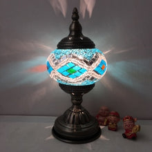 Load image into Gallery viewer, Stained Glass Mosaic Table Lamp