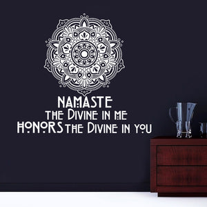Namaste & Mandala Wall Decal