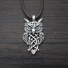 Load image into Gallery viewer, Celtic Owl Necklace
