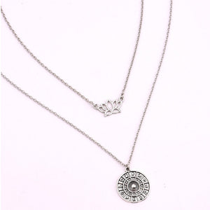 Lotus Double Layer Necklace