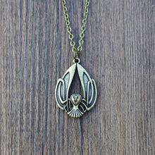 Load image into Gallery viewer, Celtic Flying Owl Necklace