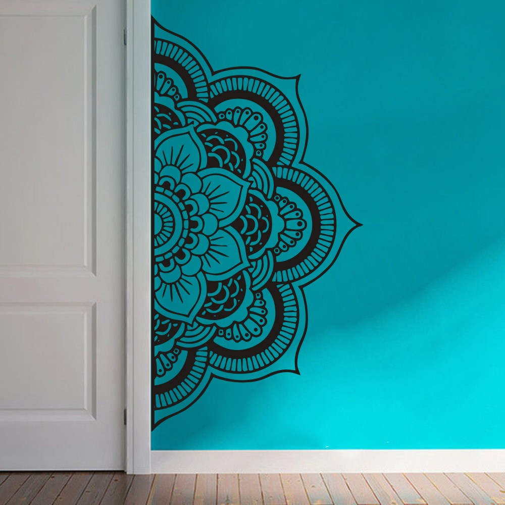 Half Mandala Wall Decal