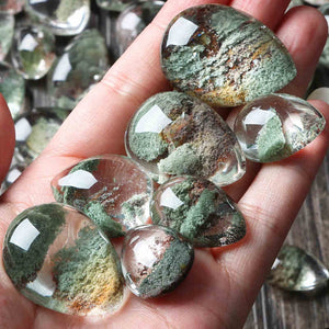Green Phantom Quartz- 5pcs