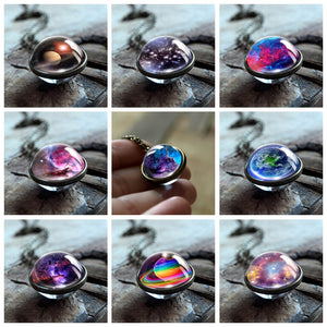 Cosmic Universe Glass Necklaces