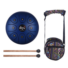 "Load image into Gallery viewer, Steel Handpan Hang Drum- 5.5"" with Bag & Mallets"