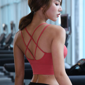 Cross Back Push Up Crop Top