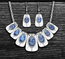 Load image into Gallery viewer, Vintage Stone Necklace & Earring Set