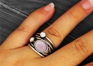 Vintage Natural Stone Ring
