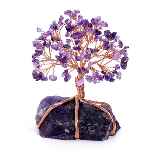 Amethyst Crystal Tree of Life with Amethyst Base